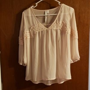 Tan Sheer Blouse